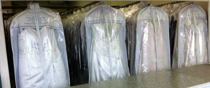 Wedding dress dry cleaning harmony dry cleaners for Where to dry clean wedding dress